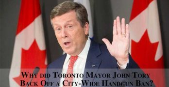 Why did Toronto Mayor John Tory back off a city-wide handgun ban?