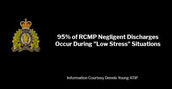95% of RCMP Negligent Discharges Occur During Low-Stress Situation