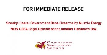 Sneaky Liberal Government Bans Firearms by Muzzle Energy