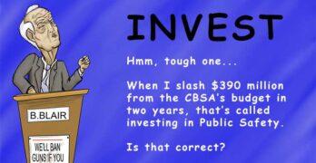 FAIL! Bill Blair Cuts CBSA Funding, Redefines the Word 'Invest'
