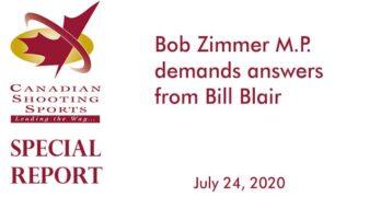 Bob Zimmer MP demands answers from Bill Blair