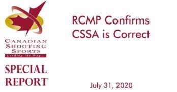 RCMP Confirms CSSA is Correct