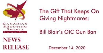 The Gift That Keeps On Giving Nightmares: Bill Blair's OIC Gun Ban